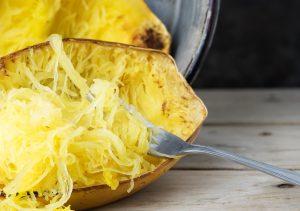Grilled spaghetti squash