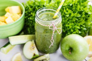 green pineapple smoothie