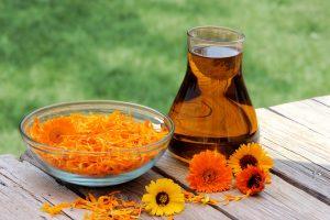 Calendula Flowers and Oil