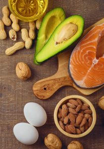 healthy fats and proteins
